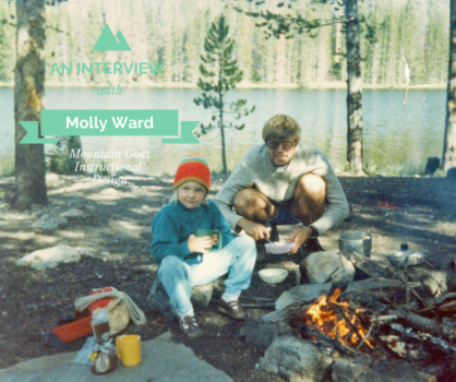 Just a kid--Molly backpacking with her dad back in the day...